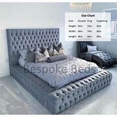 king size silver crush velvet ambassador bed frame on onbuy