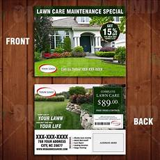 Landscaping Marketing Landscaping Marketing Direct Mailer Template Front And