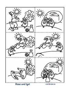 Malvorlage Hase Und Igel Hase Und Igel Picture Stories Bildergeschichten