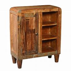 rounded corners reclaimed wood rustic cabinet w display