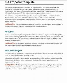 Bidding Proposal Template Free Proposals Estimates Quotes Pdf Amp Word Template Hubspot