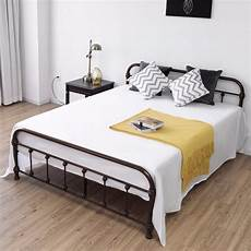 giantex size metal steel bed frame with stable metal