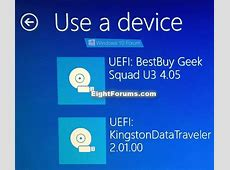 Boot from USB Drive on Windows 10 PC