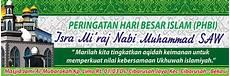 contoh desain banner isra mi raj masjid al mubarokah