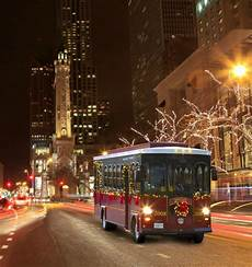 Chicago Lights Trolley Midwest Travel Tour The City S Lights On A Chicago Trolley