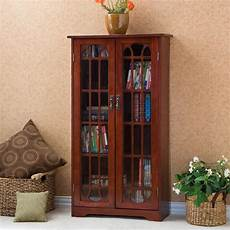 sei window pane wood media cabinet cherry