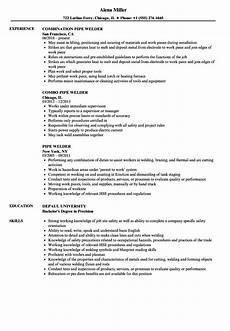 Resume For Welding Pipe Welder Resume Samples Velvet Jobs