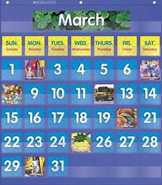 Scholastic Calendar Pocket Chart Scholastic Monthly Calendar Pocket Chart Blue School