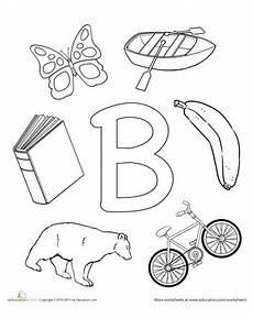 b is for letter b worksheets preschool letter b