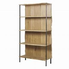 scaffale di legno scaffale in legno massello di quercia e metallo magnus