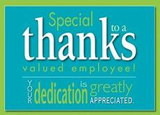 Employee Thank You Notes Thanks Message For Appreciation To Employees