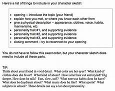Character Sketch Essay Example Writing A Character Sketch Essay How To Write A Character