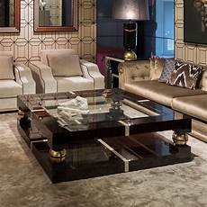 luxury and gold square coffee table