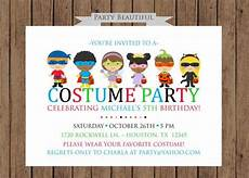Costume Party Invites Costume Party Birthday Invitation Boys Halloween Party