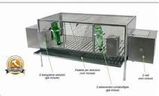accessori per gabbie conigli gabbia doppia per conigli cm 120x60x65 h accessori