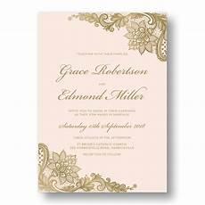 Pink Invitation Card Blush Pink Amp Gold Wedding Invitations Australia Rachael