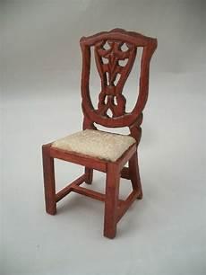 side chair dollhouse miniature wooden