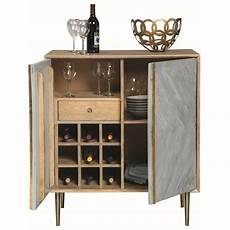 pennington contemporary wine cabinet with brass inlay