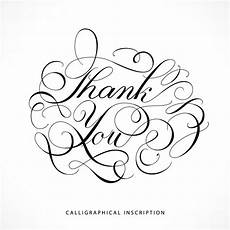 thank you card template free vector calligraphical inscription thank you vector free