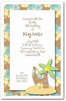 Beach Party Invitation Wording Surf S Up Invitations Beach Party Invitations