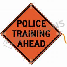 Training In Progress Sign Police Training Ahead Roll Up Signs
