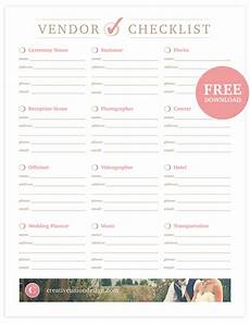 Wedding Vendor Checklist Template Creative Union Design Free Wedding Vendor Checklist