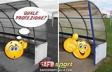 panchine da calcio protezione angolare antiurto su panchina di un co da calcio