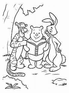 gambar winnie the pooh untuk mewarnai