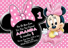 Free Printable Minnie Mouse Invitations Minnie Mouse First Birthday Invitations