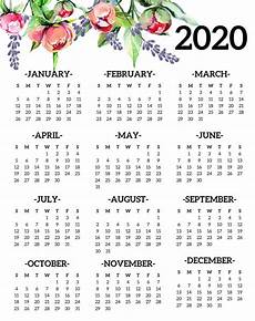 Year Calendar 2020 Printable Calendar Year 2020 Holidays Template 2019 Calendars For