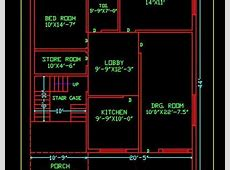 House Space Planning 30'x45' Ground Floor Plan DWG Free Download   Autocad DWG   Plan n Design