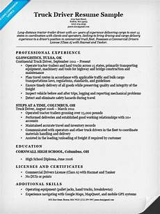 Trucking Resume Examples Truck Driver Resume Sample Resume Companion
