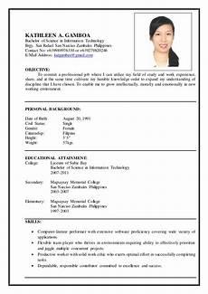 Resume Search Philippines Gamboa Resume
