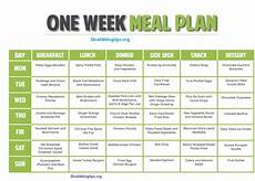 one week meal plan chart for loss weight friends if you