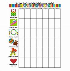 5 Year Old Chore Chart Printable 30 Weekly Chore Chart Templates Doc Excel Chore