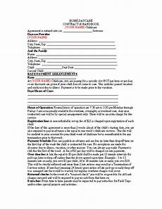 Simple Daycare Contract Home Daycare Contract Pdfsimpli