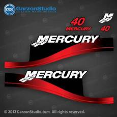 1998 1999 2010 Mercury 40 Hp 37 830163a00 Decal Set Red