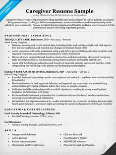 Caregiver Resume Sample My Perfect Resumes Caregiver Resume Sample Amp Writing Tips Resume Companion