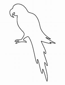 Bird Template Parrot Pattern Use The Printable Outline For Crafts