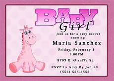 Free Online Baby Shower Invitations Templates Baby Shower Invitation Baby Girl Shower Invitations