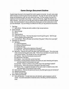 Design Doc Template Game Design Document Template E Commercewordpress