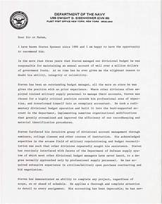 Ocs Letter Of Recommendation Example U S Navy Letter Of Recommendation 1
