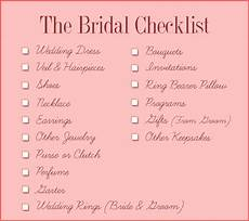 Bridal Checklist Wedding Day Essentials You Didn T Know You Needed
