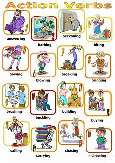 Action Verds Action Verbs Board Game Worksheet Free Esl Printable