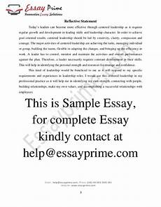 Qualities Of A Good Leader Essay Centered Leadership Essay Sample