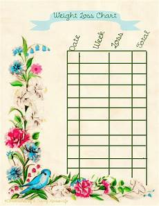 Weekly Weight Loss Chart Chronicles Of A Curvy Housewife Free Printable Weight