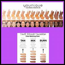Ricci Foundation Colour Chart Color Chart For Our Touch Mineral Foundation Line Amp Skin