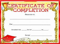 Free Certificate Template For Kids 19 Certificate Of Completion Templates