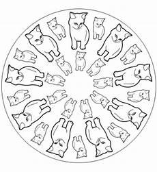 Ausmalbilder Katze Mandala Mandalas Ausdrucken Katzen Mandala