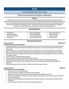Project Manager Construction Resume Construction Assistant Project Manager Resume Example